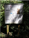 TG0723 : Information Board on Marriott's Way footpath by Adrian Cable