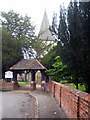 SU9974 : The lych gate to the Church of St Peter and St Andrew at Old Windsor by Rod Allday