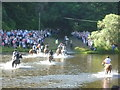 NT5034 : Crossing the Tweed at the Braw Lads' Gathering by kim traynor