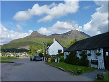 NN0958 : Cafe in Glencoe village by James Allan