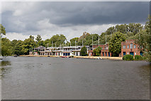SP5105 : Oxford College Boathouses by Peter Facey