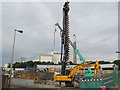TQ3577 : Foundations for a new railway bridge by Stephen Craven