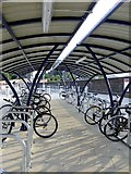 TQ2775 : Bike shed with shadows, Clapham Junction station by Stefan Czapski