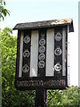 TL4192 : Wimblington and Stonea Village Sign - east side by Keith Edkins