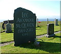NG3971 : Memorial stone to Alexander McQueen by Dave Fergusson