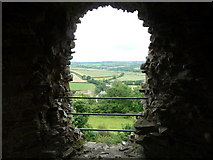 SN0717 : View of the lane from Llawhaden Castle by Jeremy Bolwell