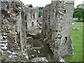SN0717 : Some of the ruins of Llawhaden Castle from the tower by Jeremy Bolwell