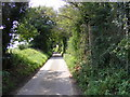 TM4465 : Onners Lane & the footpath to Church Road by Adrian Cable