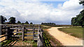 SU3406 : Corral and Tracks, Beaulieu Road by Des Blenkinsopp