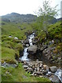 NN3341 : Falls, Allt Coire Achaladair by Michael Graham