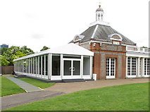 TQ2680 : Serpentine Gallery - temporary meeting space by David Hawgood