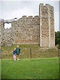 TM2863 : Wall of the Inner Court of Framlingham Castle by Helen Steed