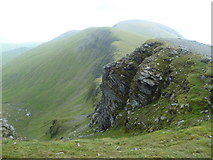 NN3543 : Descending Beinn Achaladair  by Michael Graham