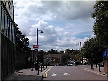 TQ3370 : View of the Anerley TV transmission mast from Crystal Palace Station Road by Robert Lamb