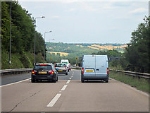 TQ2652 : M25, junction 8 slip road by Oast House Archive