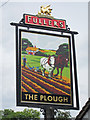 TQ1378 : The Plough sign by Oast House Archive