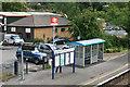 SO4593 : Church Stretton station platform by roger geach