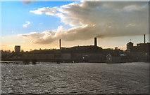 SE4843 : John Smith's Brewery and River Wharfe, Tadcaster by David Dixon