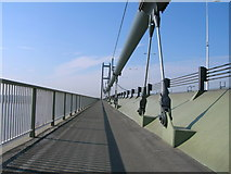 TA0224 : Cycle track on the Humber Bridge heading south by JThomas