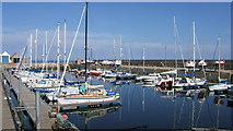NJ2371 : Panorama of New Basin at Lossiemouth (1) by Richard Hoare