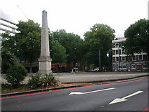TQ3179 : Memorial where Westminster Bridge Road meets London Road by Rob Purvis