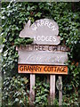 TM4466 : House signs Warren Lodges,Long Acre & Granary Cottage by Adrian Cable
