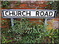 TM4365 : Church Road sign by Adrian Cable