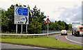 J3477 : Fortwilliam roundabout signs, Belfast (2) by Albert Bridge