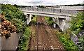 J3477 : Railway bridge, Fortwilliam, Belfast by Albert Bridge