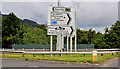 J3477 : Fortwilliam roundabout sign, Belfast (4) by Albert Bridge