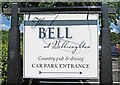 SO9477 : The Bell at Belbroughton (3) -  car park sign, Bell End by P L Chadwick