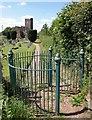 ST0115 : Churchyard gate, Uplowman by Derek Harper