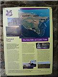 NU1341 : Lindisfarne Castle, Holy Island. Limekiln information board by Alexander P Kapp