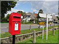TL6833 : Direction sign and postbox, Finchingfield by nick macneill