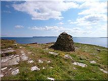 ND1071 : Cairn on Holborn Head by sylvia duckworth