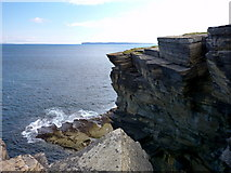 ND1071 : Cliffs at Holborn Head by sylvia duckworth
