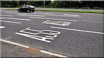 J3876 : Lane markings, Knocknagoney, Belfast by Albert Bridge