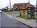 TM4362 : Waterloo Avenue Postbox, Telephone Box & Royal Mail Dump Box by Adrian Cable