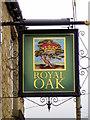 NZ1025 : Sign for the Royal Oak by Maigheach-gheal