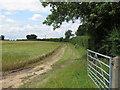 TM1335 : Farm track and field boundary by Roger Jones