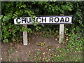 TM4362 : Church Road sign by Adrian Cable