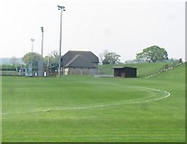 ST4935 : Butleigh playing fields by Richard Webb