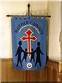 SZ2992 : Banner, All Saints' Church by Maigheach-gheal