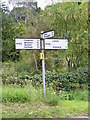 TM4365 : Roadsign on the B1122 Leiston Road by Adrian Cable