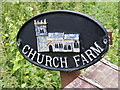 TM4365 : Church Farm sign by Adrian Cable
