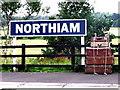 TQ8326 : Northiam station nameboard by nick macneill