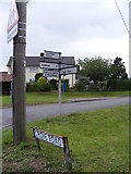 TM4160 : Grove Road & Roadsign by Geographer
