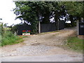 TM4160 : Sandlings Walk Footpath to the B1069 Snape Road by Adrian Cable