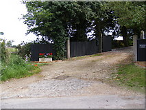 TM4160 : Sandlings Walk Footpath to the B1069 Snape Road by Geographer