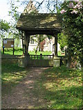 ST9383 : Lych gate, Holy Rood church by Nick Smith